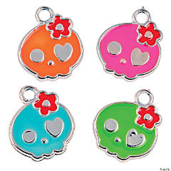 Plastic Day of the Dead Charms