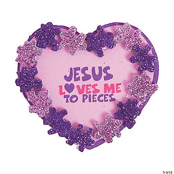 Jesus Loves You Heart Craft