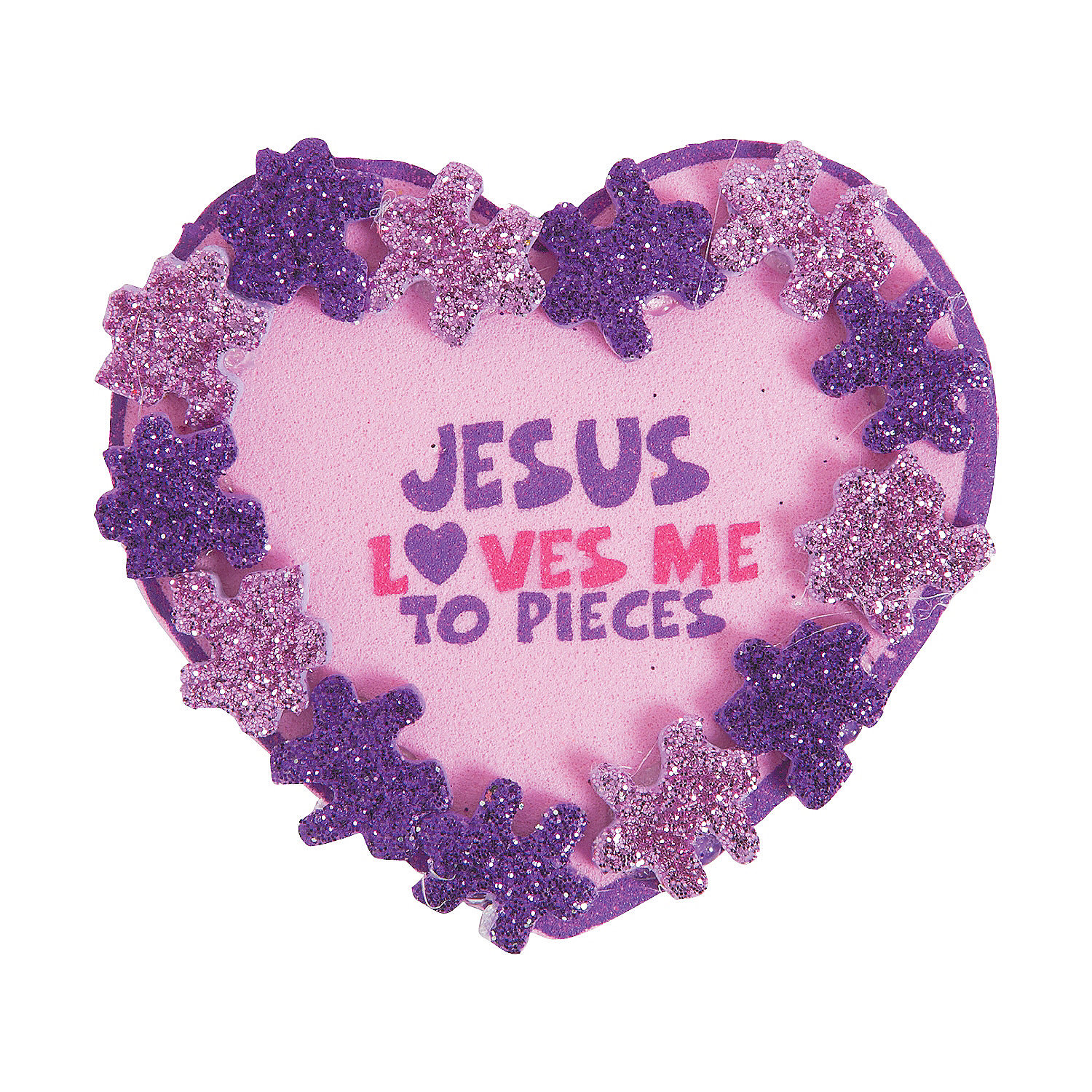 Jesus loves me to pieces pin craft kit jewelry crafts for Kids crafts for church