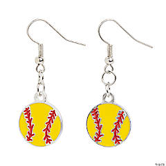 Softball Earrings Craft Kit