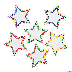 Polka Dot Dry Erase Magnetic Star Cutouts