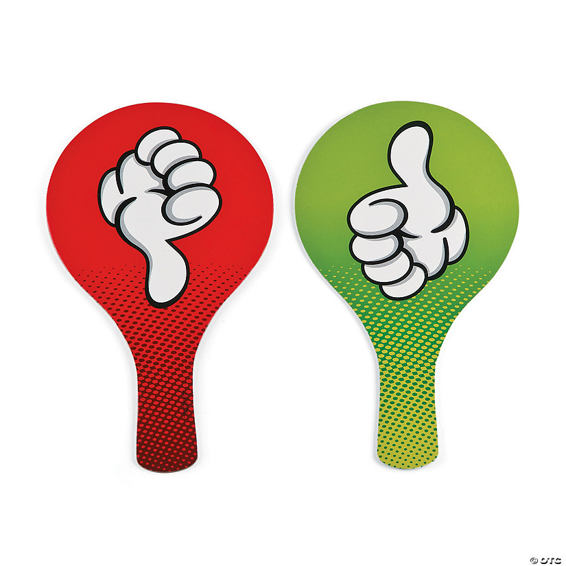 thumbs up thumbs down classroom paddles