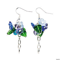 Metal Blue Bell Flower Earrings Craft Kit