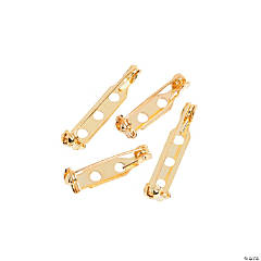 Goldtone Pin Backs