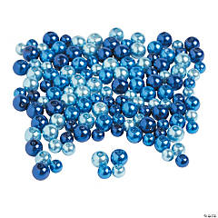 Blue Pearl Beads 6mm - 8mm