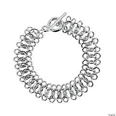 Silver Chain Mail Bracelet - 7 3/4