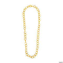 Goldtone Round Link Chain Necklace - 18