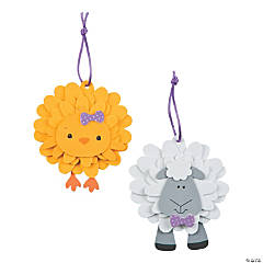 Foam Easter Character Flower Ornament Craft Kit