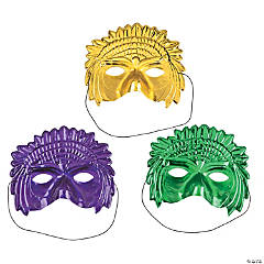 Headdress Mardi Gras Masks
