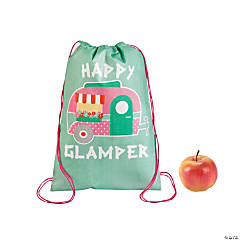 Polypropylene Glam Camp Drawstring Backpack