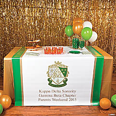 Personalized Kappa Delta Table Runner