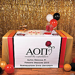 Personalized Alpha Omicron Pi Table Runner