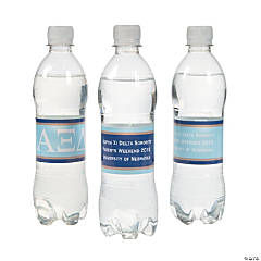 Alpha Xi Delta Personalized Water Bottle Labels