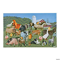 Giant Realistic Farm Animal Sticker Scenes