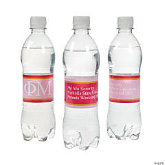 Phi Mu Personalized Water Bottle Labels