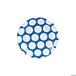 Blue Large Polka Dot Dessert Plates