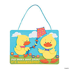 Ducky About Spring Sign Craft Kit