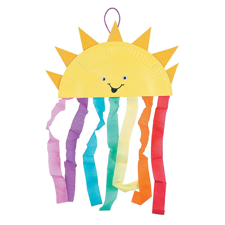 Paper plate sun amp rainbow craft kit oriental trading