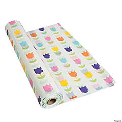 Bright Tulip Tablecloth Roll