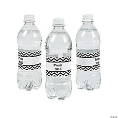 Personalized Prom 2015 Water Bottle Labels