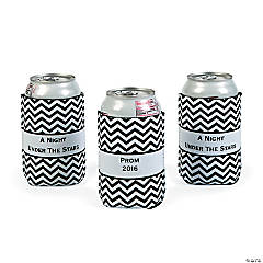 Personalized Prom 2015 Chevron Can Covers