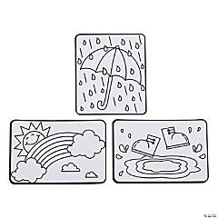 Color Your Own Rainy Day Magnets