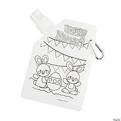 Color Your Own Easter Collapsible Water Bottles