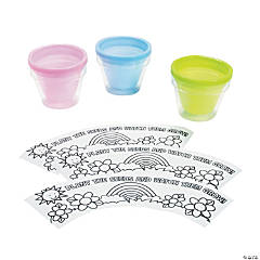 Color Your Own Rainbow & Sunshine Flowerpot