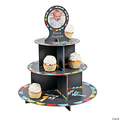 Custom Photo 1st Birthday Boy Chalkboard Cupcake Holder