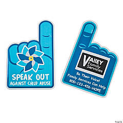 Child Abuse Custom Photo Rally Hand Fans