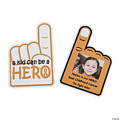 Childhood Cancer Custom Photo Rally Hand Fans