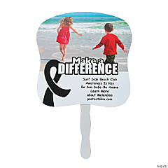 Black Awareness Ribbon Custom Photo Fans