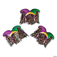 Mardi Gras Jester Headband with Fringe