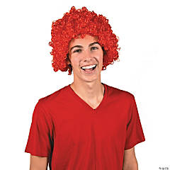 Team Spirit Red Afro Wig