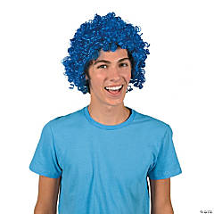 Team Spirit Blue Afro Wig