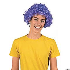 Team Spirit Purple Afro Wig
