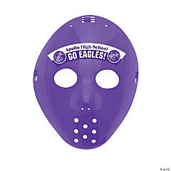 Custom Photo Hockey Masks - Purple