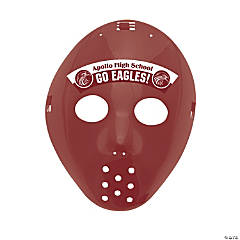 Custom Photo Hockey Masks - Burgundy