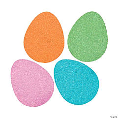 Jumbo Glitter Egg Shapes
