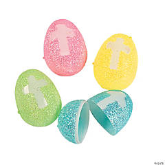 Glitter Cross Easter Eggs