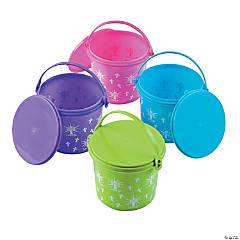 Religious Easter Pails with Lid
