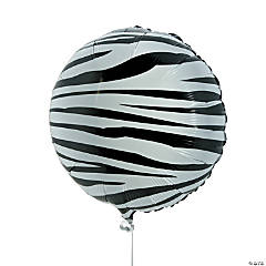 Zebra Print Mylar Balloon Set