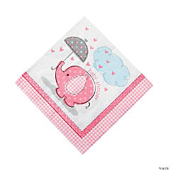 Umbrellaphants Pink Luncheon Napkins