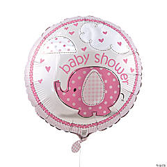 Umbrellaphants Pink Mylar Balloon
