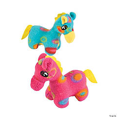 Bright Spotted Plush Giraffes