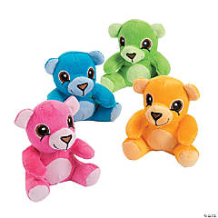 Plush Neon Easter Bears