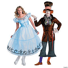 Alice in Wonderland & Mad Hatter Couples Coustumes