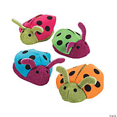Plush Spring Bright Ladybugs