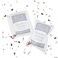 Personalized Inflate White Confetti Bag