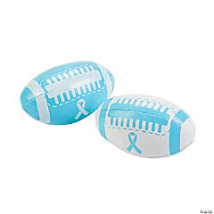 Light Blue Ribbon Awareness Footballs